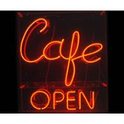 Classic Cafe Open Neon Sign